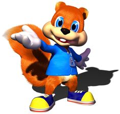 Conker's Bad Fur Day Conker: Live & Reloaded Project Spark Nintendo 64 Conker the Squirrel - fur Conker Live And Reloaded, Video Game Art, Video Games, Game Character, Character Design, Diddy Kong Racing, Pichu Pokemon, Nintendo 64 Games, Banjo Kazooie