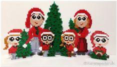 Juletræs nisser i hama perler jul