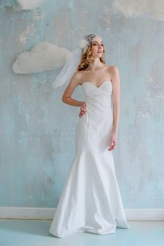 Elegant wedding dress highlights the natural beauty of a bride. Its simple design allows you to feel yourself both fabulous & comfortable the whole wedding day long! $450 click on the picture to buy it now  #wed #wedding #goroshin #dress #bride #weddingdress