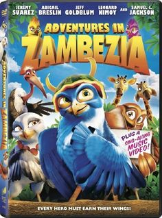 Adventures in Zambezia DVD ~ Adventures in Zambezia,  	 When a spirited young falcon named Kai learns of Zambezia, the fabulous city of birds, he leaves his remote country home against the wishes of his father. But when his dad is captured by an evil lizard who plans to attack the city, Kai must learn the importance of teamwork if he's to rescue his father, save his new friends and help keep Zambezia lizard free.