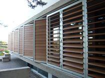 brise-soleil en PVC / en composite / en bois / en aluminium