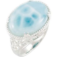 Sterling Silver Larimar Ring. To find a jeweler near you, visit http://www.stuller.com/locateajeweler/