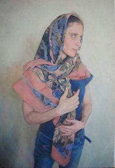 autoportret olej na płótnie wymiary 55x38, 2013