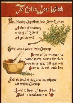 """Book of Shadows: """"To Call a Lost Witch. Witchcraft Spell Books, Wicca Witchcraft, Magick Spells, Demon Spells, Charmed Spells, Charmed Book Of Shadows, Witch Spell, Pagan Witch, Spells For Beginners"""