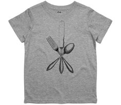 El Cheapo Antique Cutlery Toddler Grey Marle T-Shirt