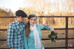 romantic outdoor couple's portraits - #vintage #rustic #babysbreath #pinecone #organic #bouquet - winter engagement photography - north carolina vintage engagement photographers