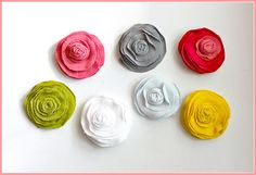 more fabric flowers...always looking for new ideas