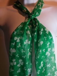 ST. PATRICK'S SHAMROCK SCARF (GREEN) « Holiday Adds
