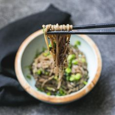 Soba Noodles Avocado, Soba Noodles, Food Photo, Food Inspiration, Good Food, Healthy, Ethnic Recipes, Banana, Pasta Substitute