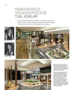 Exclusive Homes Ocak sayısında Gönye Tasarım tarafından tasarlanan Tual Adalar Satış Ofisi