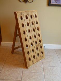 French Riddling Rack, Wine Rack, Riddling Rack, 28 Bottle Riddling Rack, A-frame French riddling rack