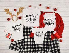 Matching Christmas Pajamas, Family Christmas Pajamas, Matching Family Pajamas, Merry Christmas, Christmas Shirts For Kids, Matching Shirts, Holiday Pajamas, Disney Christmas, Christmas Couple