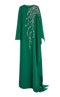 Get inspired and discover Oscar de la Renta trunkshow! Shop the latest Oscar de la Renta collection at Moda Operandi. Muslim Fashion, Modest Fashion, Fashion Dresses, Leather Midi Dress, Embellished Gown, Caftan Dress, Designer Dresses, Tunic Tops, Gowns