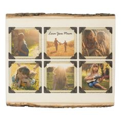 #createyourown #customize - #Mother Daughter Personalized Instagram Photo Grid Wood Panel