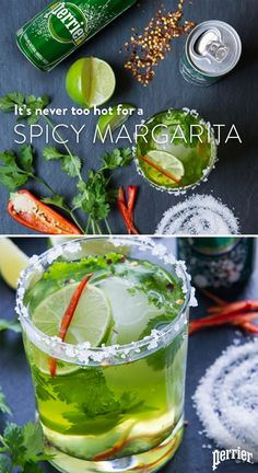 Cool off your spicy Margarita by adding a little Perrier. This recipe will have you craving spice even in the hottest conditions. Visit perrier.com for the recipe and to find out other ways to add a little spice to the everyday. 21+