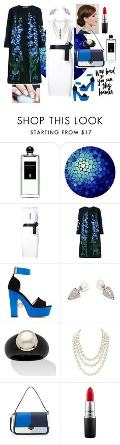 """""""Work hard"""" by mcallenelrivera ❤ liked on Polyvore featuring Serge Lutens, KaufmanFranco, Alice Archer, Nicholas Kirkwood, Palm Beach Jewelry, Chanel, Tory Burch and MAC Cosmetics"""