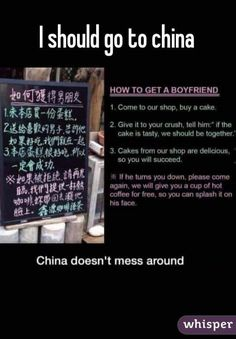How to get a boyfriend according to a Chinese cake shop. Lol