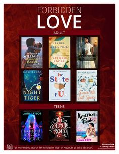 Forbidden Love Readers' Advisory #MadeinLibraryAware