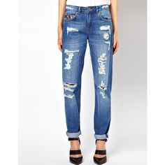 ASOS PETITE Rocco Boyfriend Jeans ($54) ❤ liked on Polyvore
