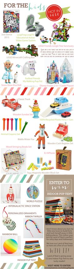 This 2014 Holiday Gift Guide has the BEST cool and creative gift ideas for kids, plus a giveaway from The Land of Nod!