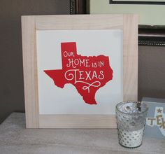 Our Home is in Texas Wall Art Screen Print Each by LoneStarLizzie