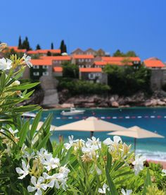 Most beautiful places to travel - Svety Stefan, Montenegro Beautiful Places To Travel, Montenegro, Travel Destinations, Most Beautiful, Adventure, Mansions, House Styles, Outdoor Decor, Road Trip Destinations
