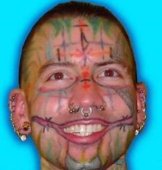 53 WTF Face Tattoos That Are a Sign Your Life Might Have Gone Wrong - The internet has generated a huge amount of laughs from cats and FAILS.
