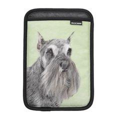 #Schnauzer Sleeve For iPad Mini - #miniature #schnauzer #puppy #schnauzers #dog #dogs #pet #pets #cute #miniatureschnauzer