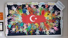 29 ekim pano örnekleri - Google'da Ara School Door Decorations, School Doors, Preschool Activities, Special Day, Art Lessons, Art For Kids, Classroom, Tapestry, Education
