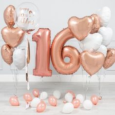 Inflated balloons delivered straight to your door! Helium balloons delivered to your doorstep ready to celebrate any special occasion. Birthday Roses, Gold Birthday Party, Birthday Party For Teens, Sweet 16 Birthday, Birthday Balloons, Birthday Surprise For Husband, Birthday Morning Surprise, Sweet 16 Party Decorations, 16th Birthday Decorations