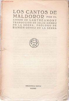 Conde de Lautréamont-  Los Cantos de Maldoror