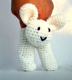 Two Finger Bunny Puppet by PureCraft on Etsy, £6.00