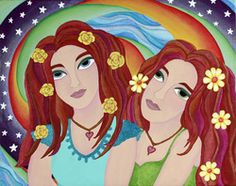"""Sisters"" by Heather Moyer  www.hmartisticcreations.com"