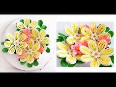Paper Quilling Flower For beginner Learning Video 15 // Paper Flower Card - YouTube