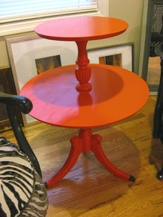 orange table... looks like a fun  hardsale project