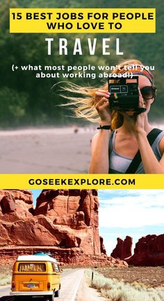 The 15 Best Jobs For People Who Love To Travel (and How To Get Started) - plus what most people don't tell you about working abroad! Realistic work abroad opportunities to make travel your career! / goseekexplore.com / by Ally Archer #travel #travelhacks #traveldestinations #workabroad #career #careeradvice #goseekexplore Travel Advice, Travel Guides, Travel Tips, Travel Hacks, Travel Destinations, Travel Packing, Travel Essentials, Budget Travel, Work Abroad