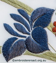 Wonderful Ribbon Embroidery Flowers by Hand Ideas. Enchanting Ribbon Embroidery Flowers by Hand Ideas. Learn Embroidery, Silk Ribbon Embroidery, Crewel Embroidery, Hand Embroidery Patterns, Cross Stitch Embroidery, Machine Embroidery, Embroidery Designs, Embroidery Needles, Embroidery Scissors