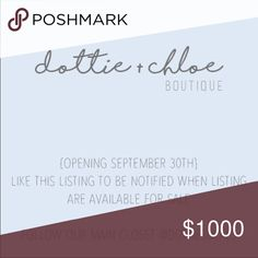 One more day left!! Please share! 😍 💕 welcome to dottie + chloe! 💕  New listings are being added daily! This closet will officially open September 30th! This is the new boutique closet of @dottiesdeals. All boutique items currently listed on @dottiesdeals will be moved to this closet. Like this listing to be notified of new arrivals and when this boutique opens! Free People Tops