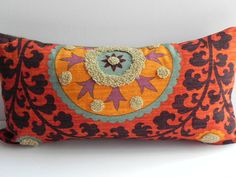 Suzani 3Park 10X20 Tribal Print Pillow Cover by PillowChix on Etsy, $42.00