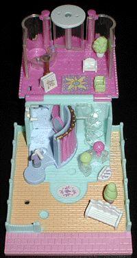 1995 - Polly Pocket Dress Shop Pollyville    Mattel Toys #14527    Bluebird Toys