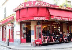 The Cafe from Amelie! Montemarte, Paris.