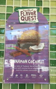 Yogurtland Flavor Quest 2015: Cinnamon coconut