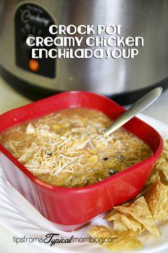 Crock Pot Creamy Chicken Enchilada Soup