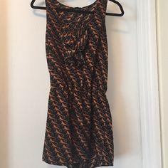 Forever 21 romper Black with orange/gold birds. Really cute Forever 21 Dresses