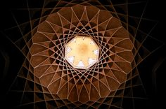 Ceiling in Bagh-e Dolat Abad, the tallest wind tower in Iran