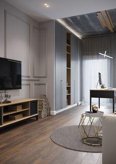 C'est à Cartelle Design, Denis Krasikov et Anastasia Struchkova, que l'on doit ce projet d'appartement contemporain situé à St Petersbourg. Les deux talents de cette jeune entrepr…