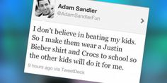 Parenting Tips From Adam Sandler