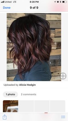 If you're thinking of taking the plunge and reaching for the blue black hair dye you've come to the right place. This is our definitive guide to blue black hair; Medium Hair Styles, Curly Hair Styles, Short Dark Hair, Dark Brown Hair Rich, Long Curly Hair, Short Hair Cuts, Hair Color And Cut, Brunette Hair, Great Hair