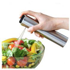 Silver Stainless Steel Olive Pump Spraying Oil Bottle Spraye For Soy Sauce Vinegar Oil Pot Drops Spice Jar Seasoning Supplies #Affiliate