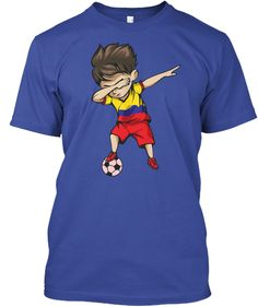 Football Cup 2018 World Soccer Colombia T-Shirt Front Dubbing Colombia football  team supporter Shirt 81624b74b